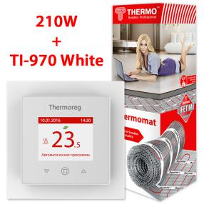 Термомат TVK-210 2,9 кв.м + Thermoreg TI-970 White