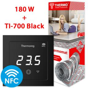 Термомат TVK-180 7 кв.м + Thermoreg TI-700 Black