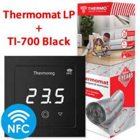Термомат TVK-130 LP 2 кв.м + Thermoreg TI-700 Black