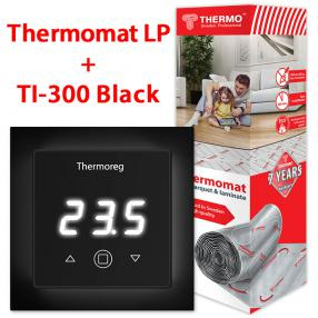 Термомат TVK-130 LP 4 кв.м + Thermoreg TI-300 Black