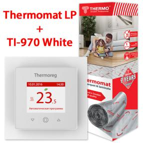 Термо TVK-130 LP 1,5 кв.м + Thermoreg TI-970 White