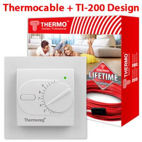 Кабель Thermo 62 метра + Thermoreg TI-200 Design