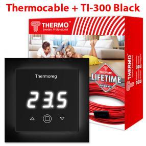 Кабель Thermo 73 метров + Thermoreg TI-300 Black