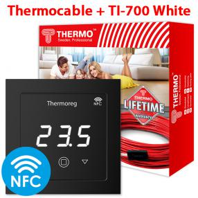 Кабель Thermo 12 метров + Thermoreg TI-970 Black