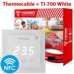 Кабель Thermo 40 метров + Thermoreg TI-700 White